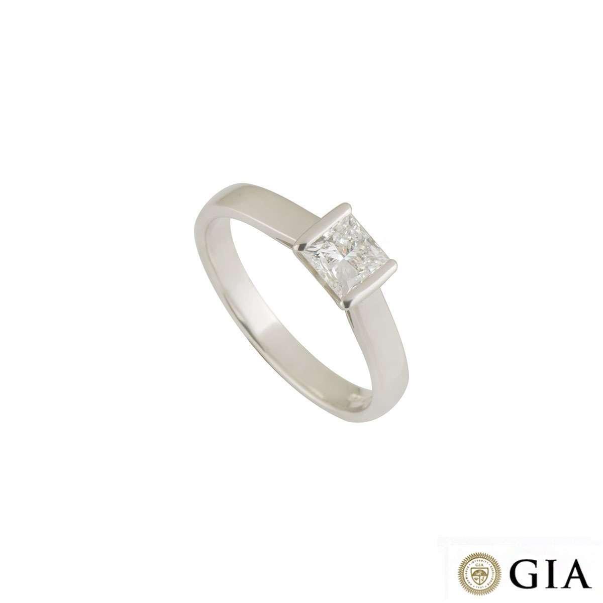 Platinum Diamond Ring 0.72ct F/IF